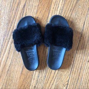 Fuzzy Slide Sandals
